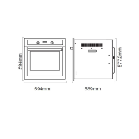 PARMCO 70L 5-FUNCTION WHITE OVEN *NEW* 7YR WTY!