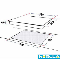 NEBULA 60CM INDUCTION HOB (2ND) 3YR WTY!