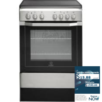 INDESIT 60CM S/S ELECTRIC STOVE *NEW*