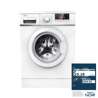 MIDEA 7.5KG F/L WASHING MACHINE *NEW* GLORIOUS!