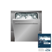 TRIESTE 14-PLACE INTEGRATED DISHWASHER *NEW*