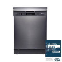 MIDEA 15-PLACE BLK-STEEL DISHWASHER *NEW*
